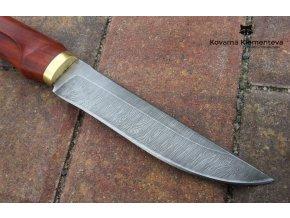 Nůž z damaškové oceli Mangusta - padouk