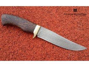 Nůž z damaškové oceli Liška - wenge
