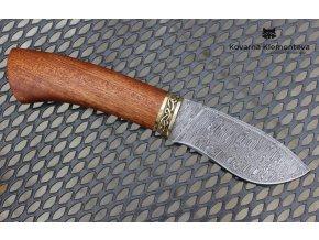 Nůž z damaškové oceli Skinner - mahagon
