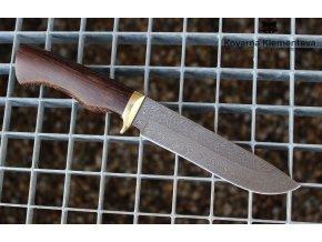 Nůž z damascénské oceli Viking - wenge