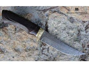 Nůž z damaškové oceli Štika - wenge, ornament