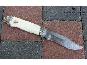 Lovecký nůž z damascénské oceli Barrakuda
