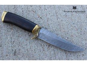 Lovecký nůž z damascénské oceli Jezdec