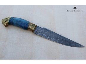 Lovecký nůž z damascénské oceli Joker