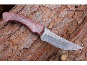 Ručně kovaný nůž z damascenské oceli Dráp