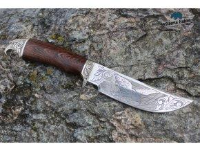 Ručně kovaný nůž z oceli D2 Orel - wenge