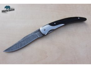 Zavírací ručně kovaný nůž z damašku Stiletto