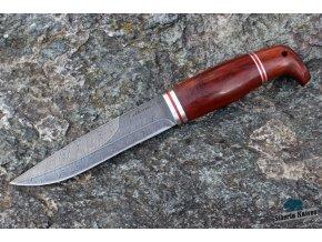 Ručně kovaný nůž z damascenské oceli Rys