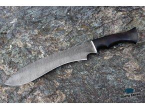 Ručně kovaná mačeta z damaškové oceli Machete