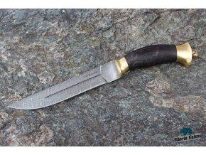 Ručně kovaný nůž z damaškové oceli Pirát