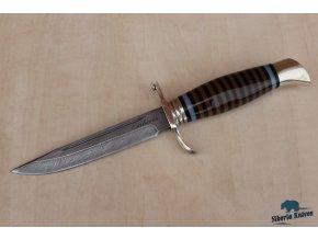 Lovecký nůž z damaškové oceli Přehlídkový