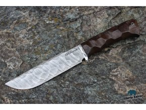 Ručně kovaný nůž z damascenské oceli Barog