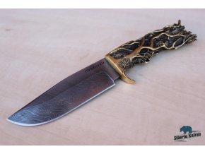 Ručně kovaný nůž z damascenské oceli Šiveluč