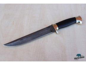Lovecký nůž z damaškové oceli Husar
