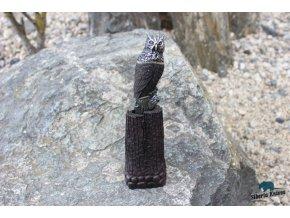Nůž z torzní laminované damaškové oceli Sova