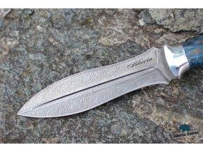 Lovecký nůž z damaškové oceli Říman