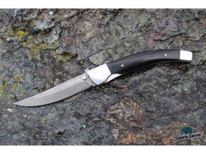 Zavírací ručně kovaný nůž z damašku Okoun