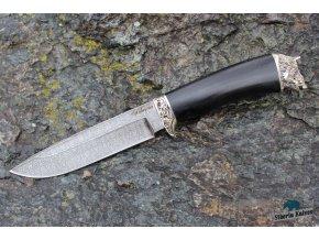 Lovecký nůž z damascenské oceli Kanec