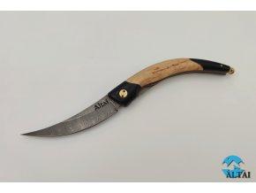 Zavírací nůž z damaškové oceli Flip
