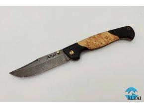 Zavírací nůž z damaškové oceli Jestřáb II
