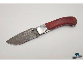 Zavírací nůž z damaškové oceli Kormorán