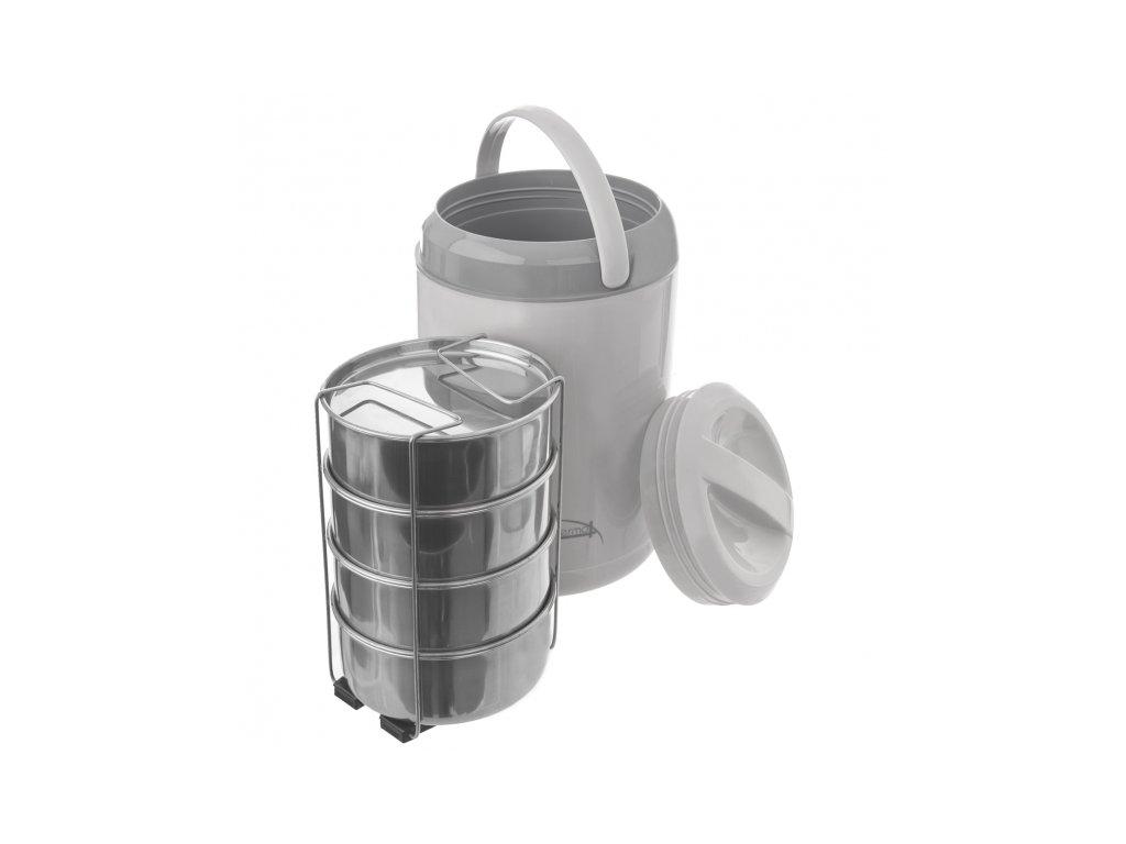 Nerezový jídlonosič s termoobalem 4 x 0,8 l