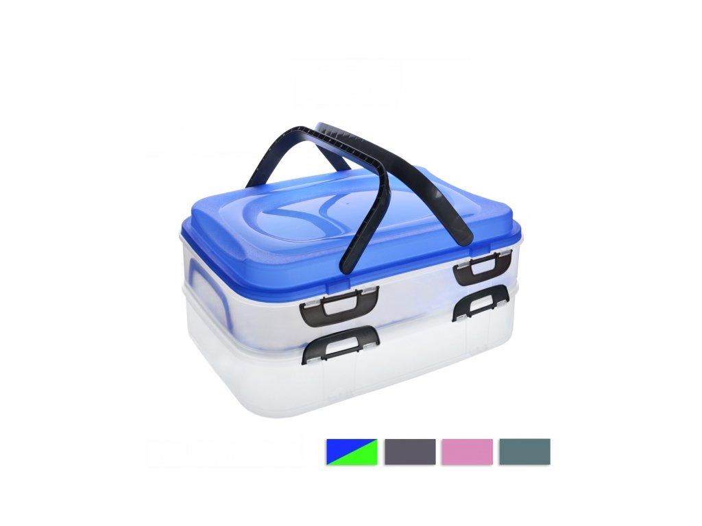 Plastový piknik box 2 patra
