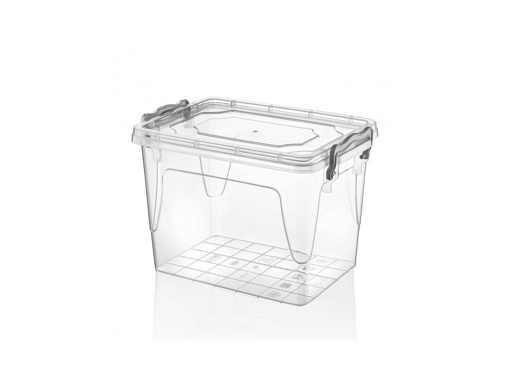 Plastový úložný box s víkem, 7,8 l