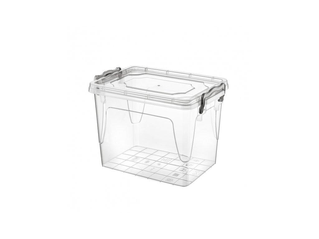 Plastový úložný box s víkem, 4,5 l