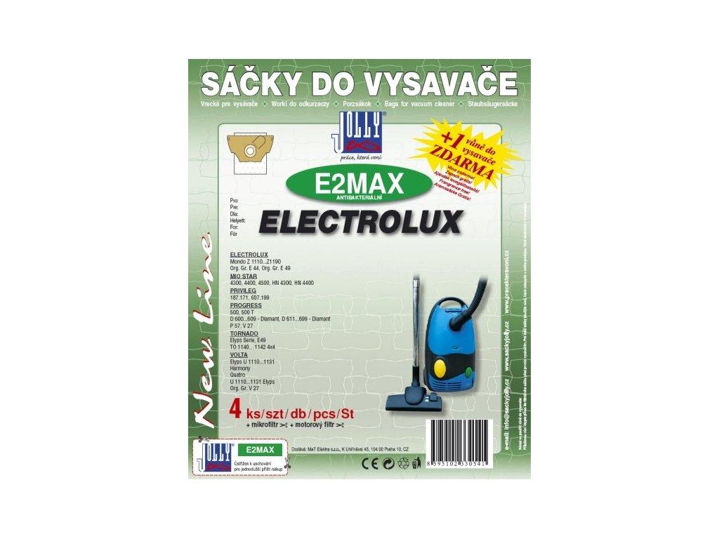 Sáčky do vysavače Jolly MAX E 2 (4ks) do vysav. Electrolux