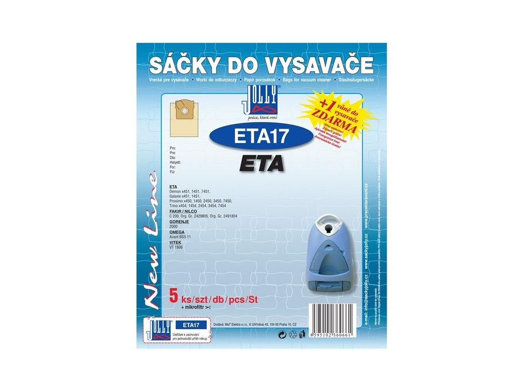 Sáčky do vysavače Jolly ETA 17 (5+1ks) do vysav. ETA