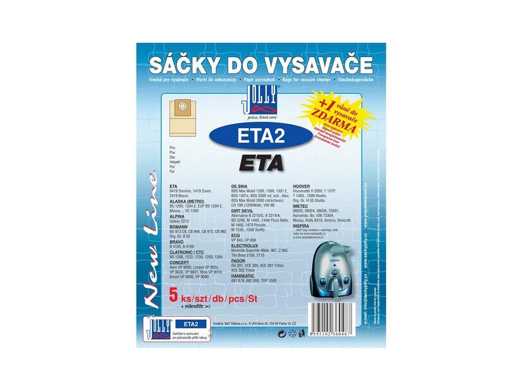 Sáčky do vysavače Jolly ETA 2 (5+1ks) do vysav. ETA