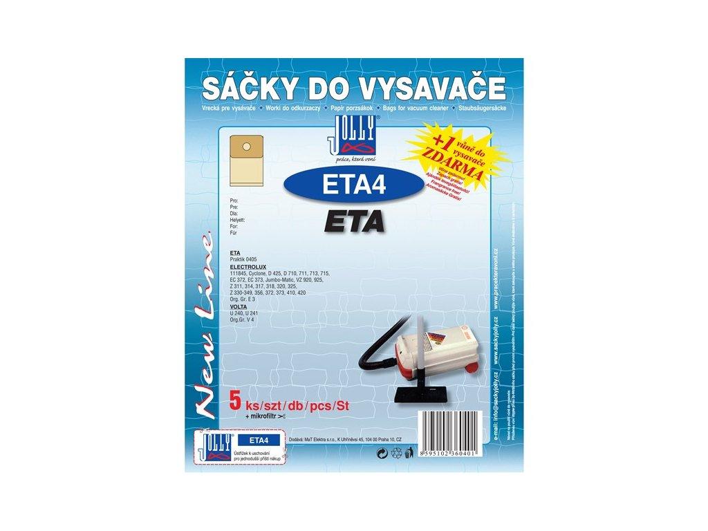 Sáčky do vysavače Jolly ETA 4 (5+1ks) do vysav. ETA