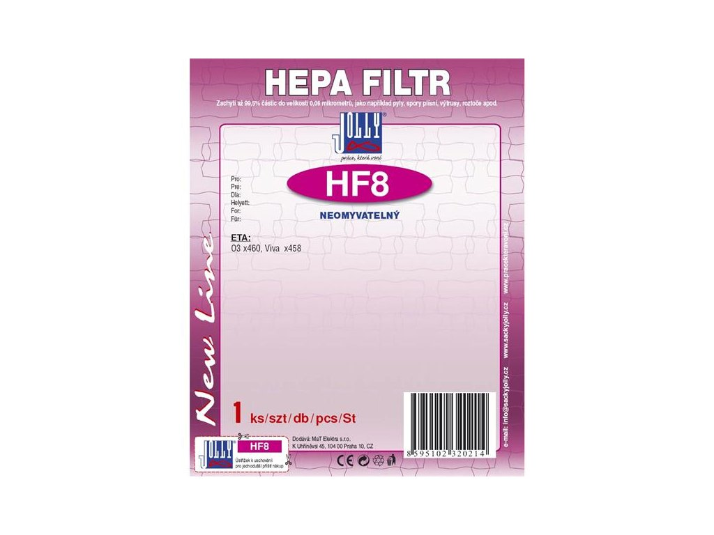 Filtr HEPA Jolly HF8 pro ETA Aston