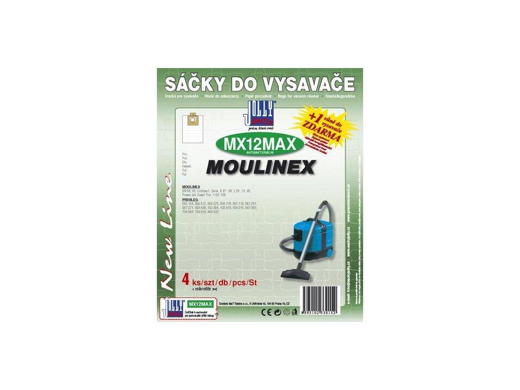 Sáčky do vysavače Jolly MAX MX 12 (4+1ks) do vysav. MOULINEX