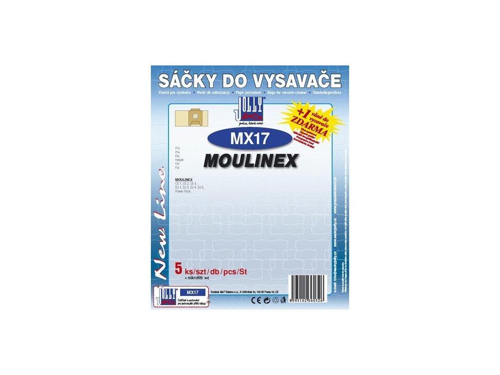 Sáčky do vysavače Jolly MX 17 (5+1ks) do vysav. MOULINEX