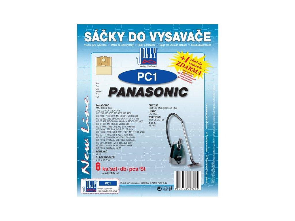 Sáčky do vysavače Jolly PC 1 (6+1ks) do vysav. PANASONIC