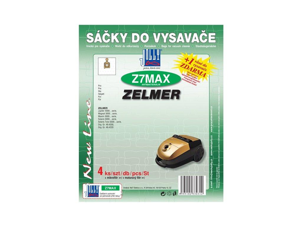 Sáčky do vysavače Jolly MAX Z 7 (4ks) do vysav. ZELMER Magnat 3000, Jupiter 4000, Maxim 3000, Solaris 5000