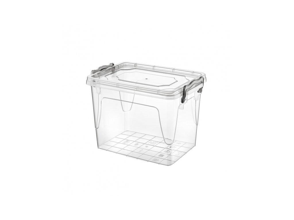 Plastový úložný box s víkem, 2,7 l