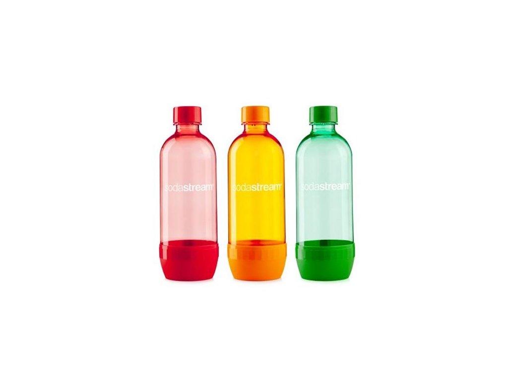 Láhev SodaStream 1l TriPack ORANGE/RED/GREEN