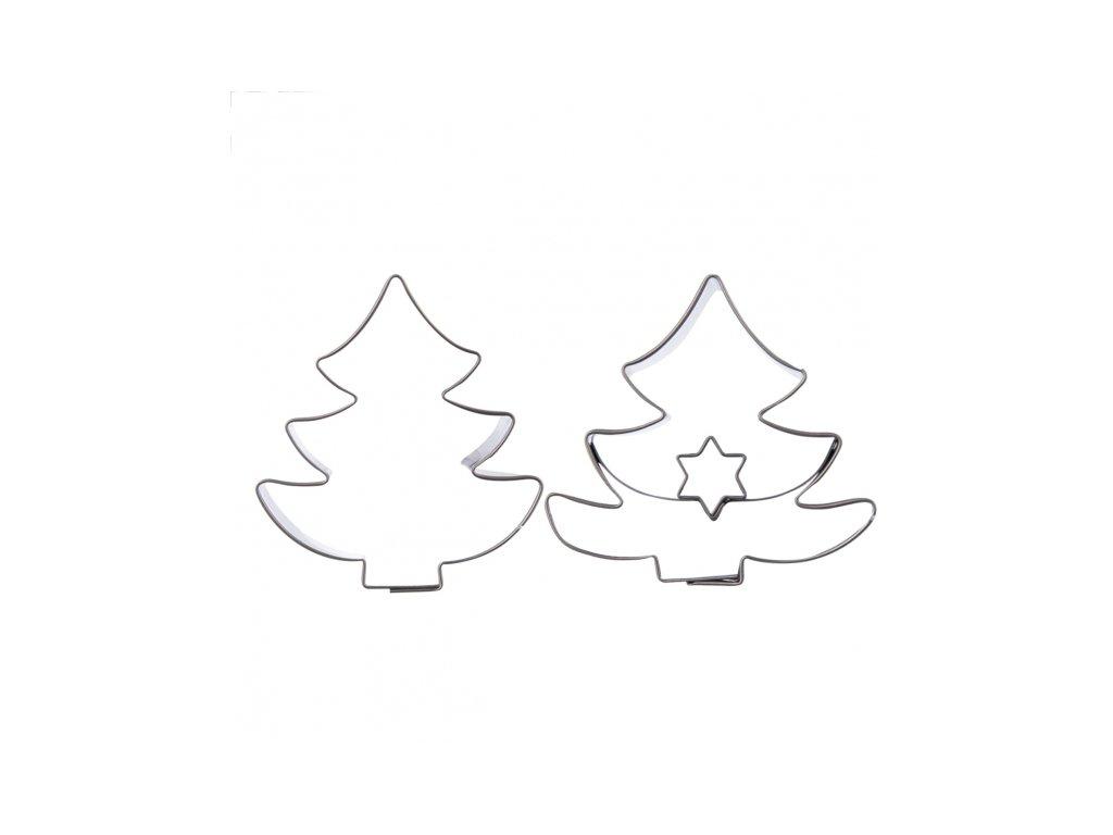 Nerezové vykrajovátko Stromeček sada 2 ks