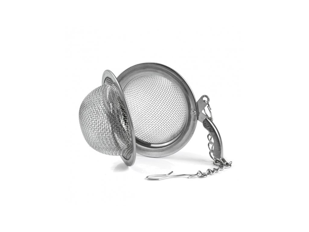 Nerezové čajítko s klipem, průměr 4,5 cm