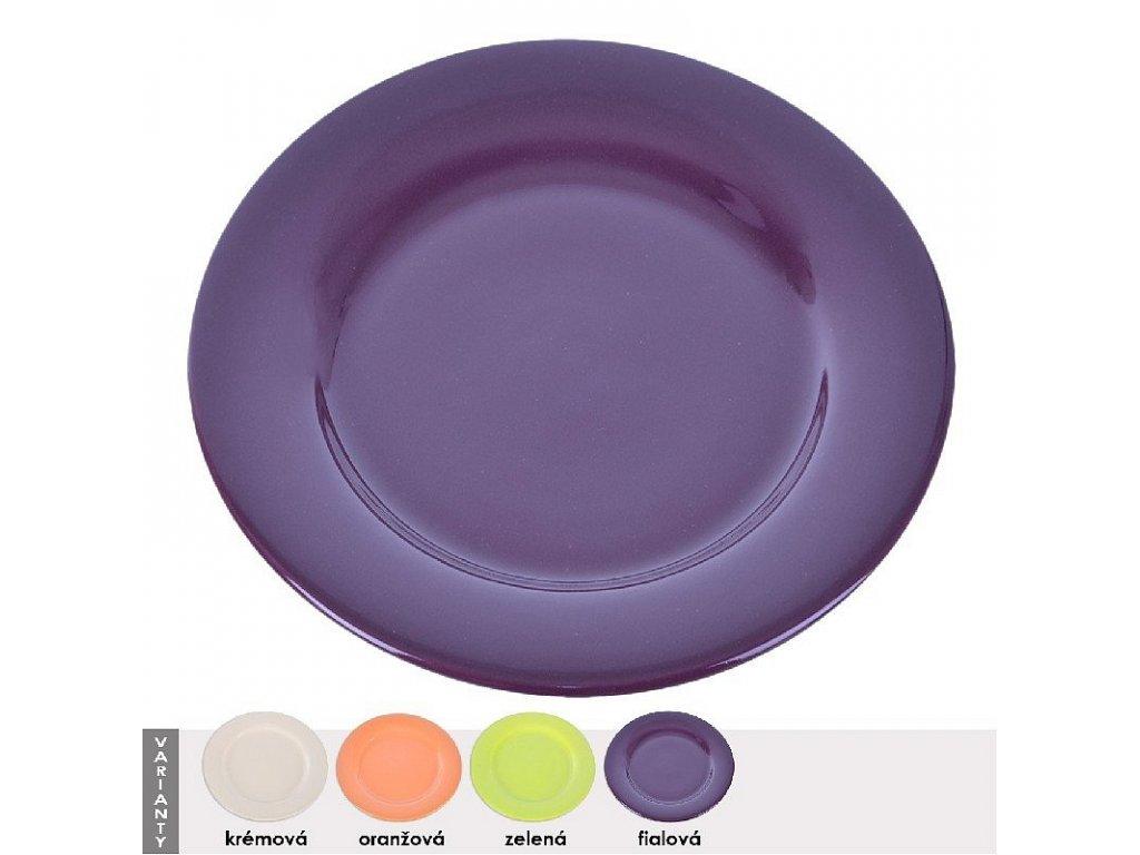 Mělký keramický talíř, průměr 26 cm