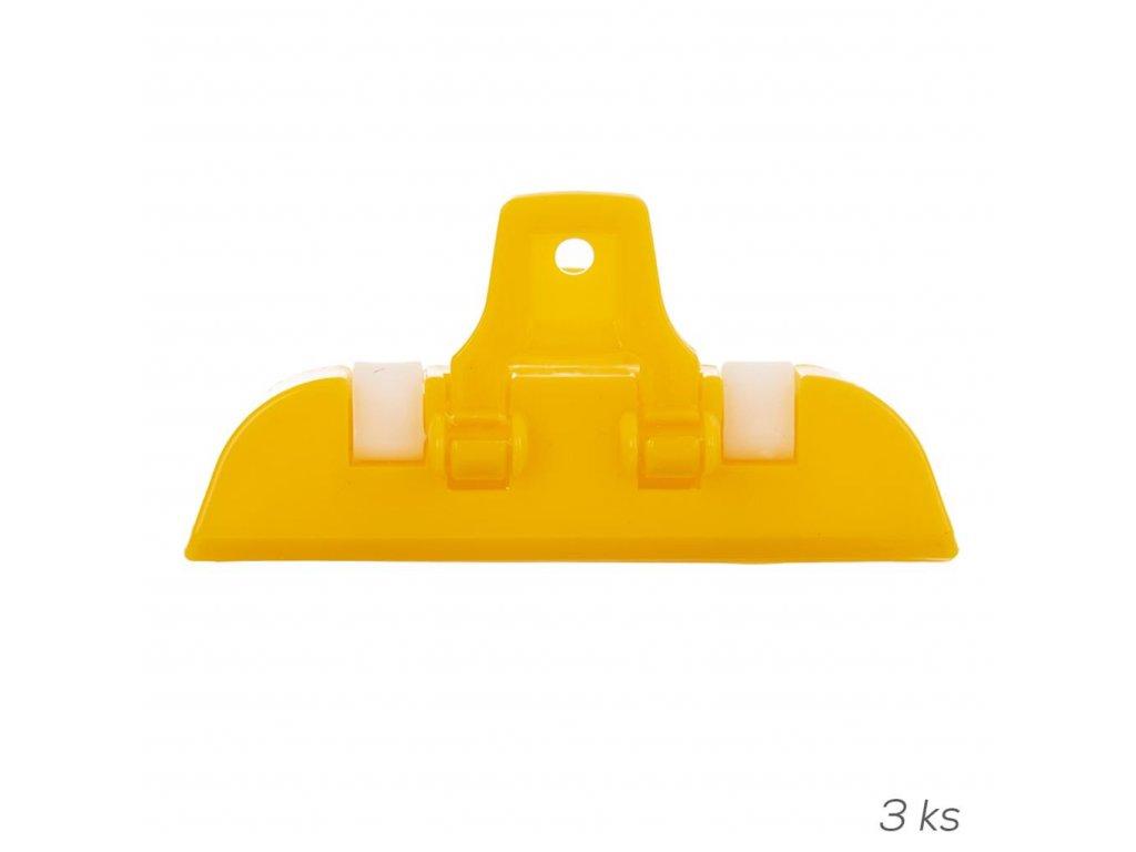 Plastový skřipec na sáčky 10 cm, 3 ks