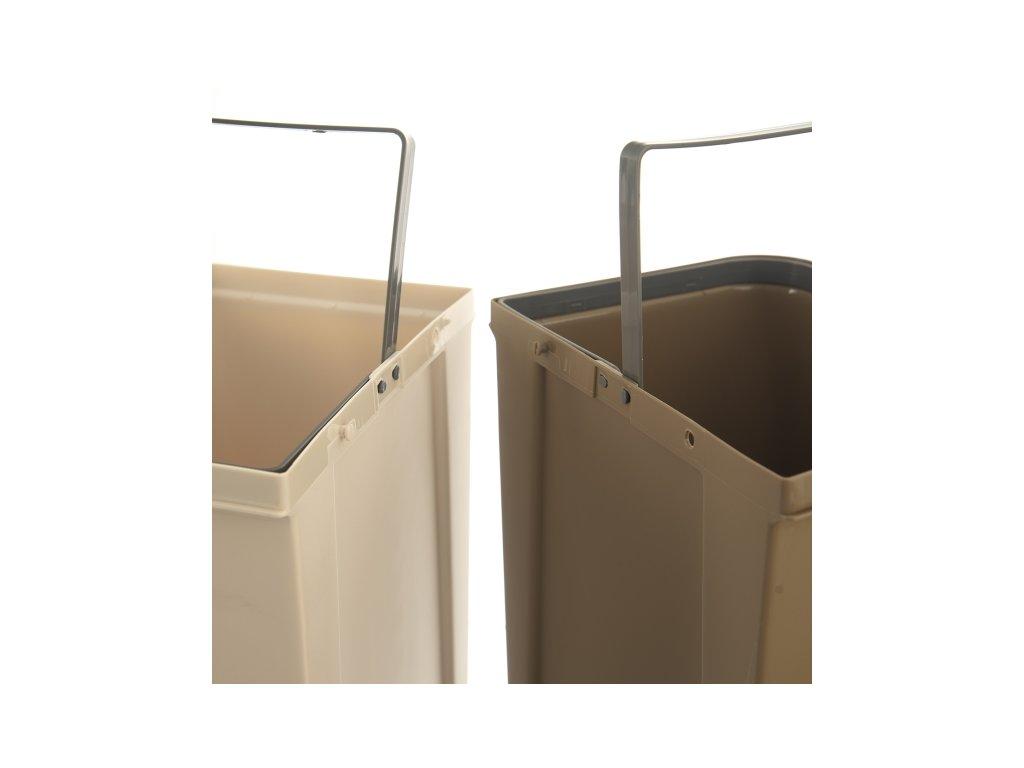 Odpadkový koš na třídění Duo Dust, 20 l