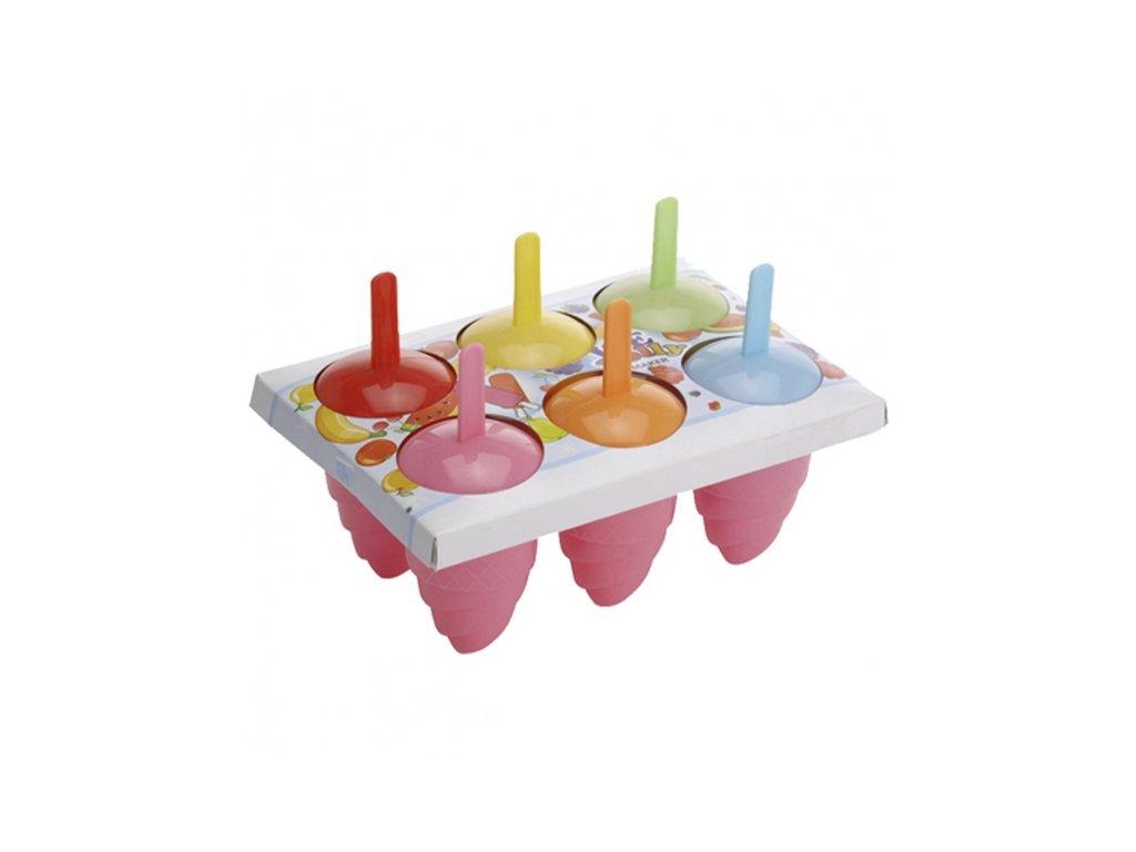 Plastová forma na zmrzlinu, 6ks