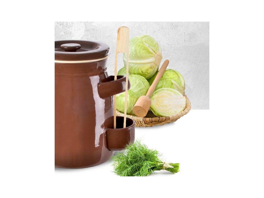 Keramický hrnec na nakládání zeleniny kyseláč, 2,5 l