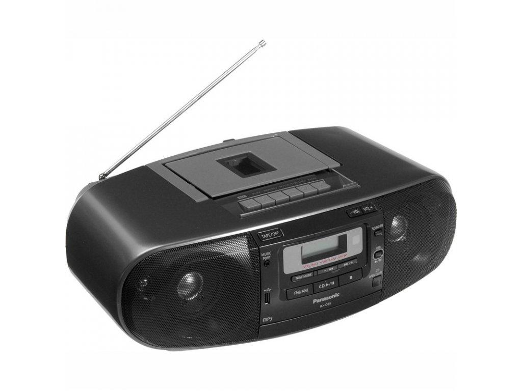 Radiomagnetofon Panasonic RX-D55AEG-K, s CD/MP3