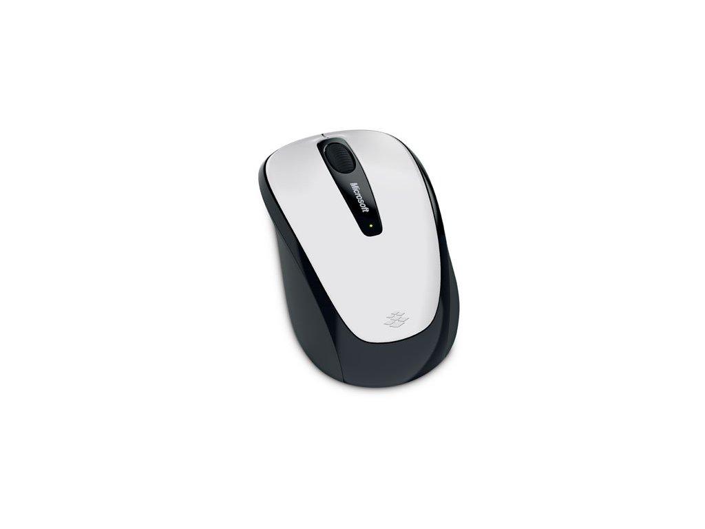 Myš Microsoft Wireless Mobile Mouse 3500 White Gloss / optická / 3 tlačítka / 1000dpi - bílá