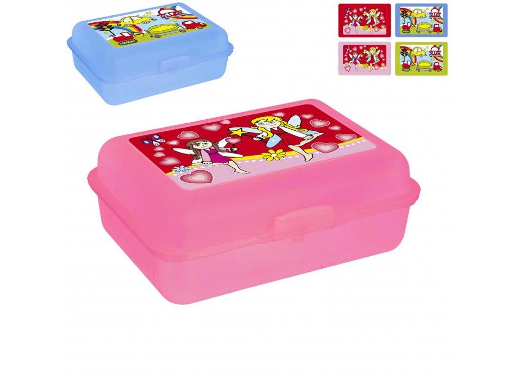 Plastový box na svačinu pro děti, 17,5 x 13 cm